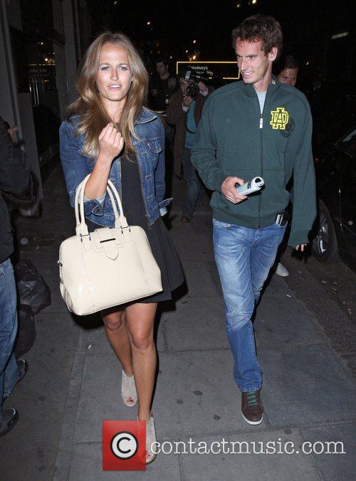 Andy Murray and girlfriend Kim Sears leaving Nobu...