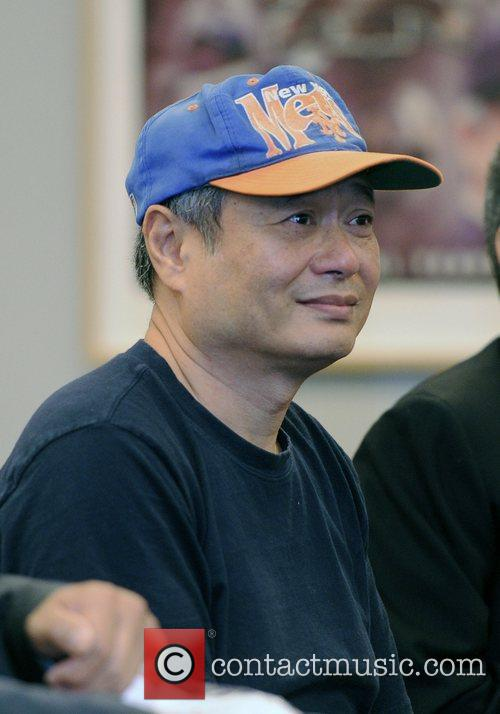 Director Ang Lee attends a press conference at...