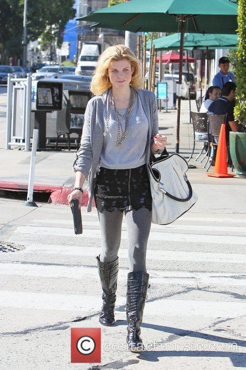 Angel McCord seen heading to lunch at Urth...
