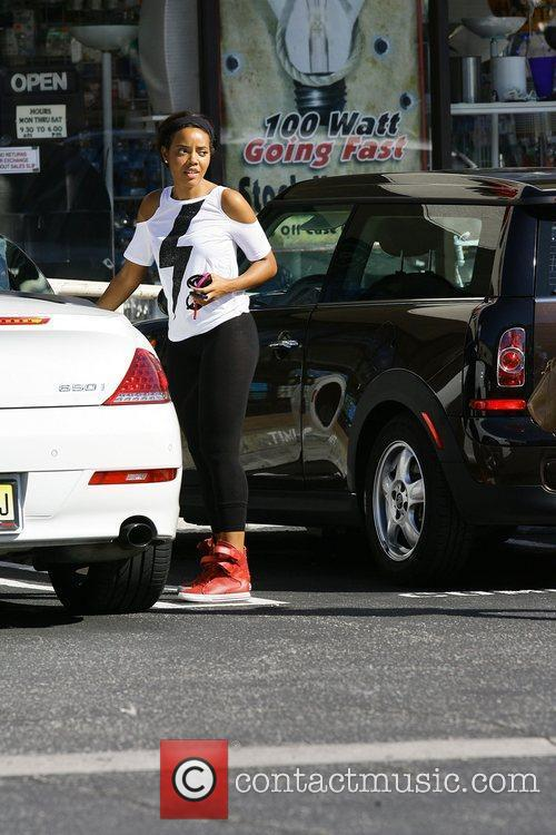 angela simmons parks her white bmw convertible 3554389