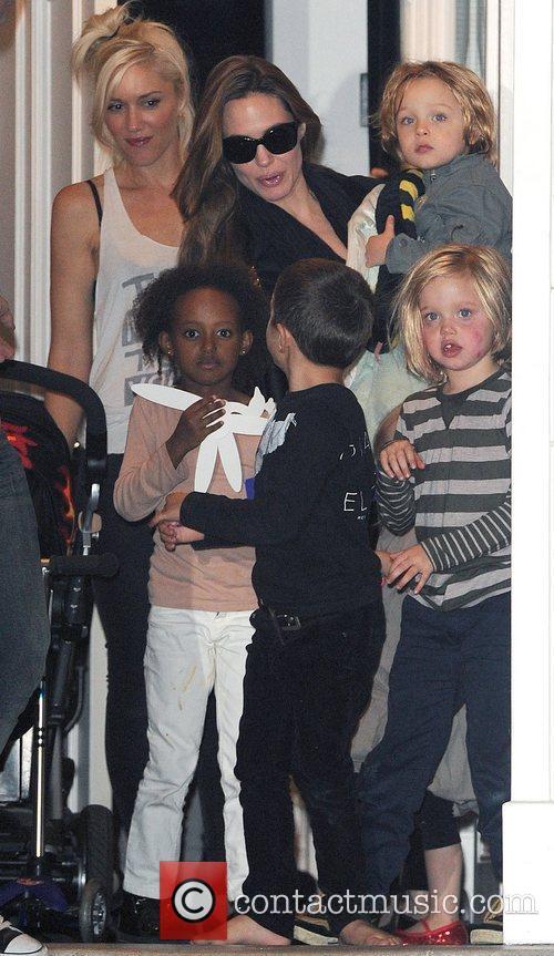 Angelina Jolie, Gwen Stefani and Shiloh 14