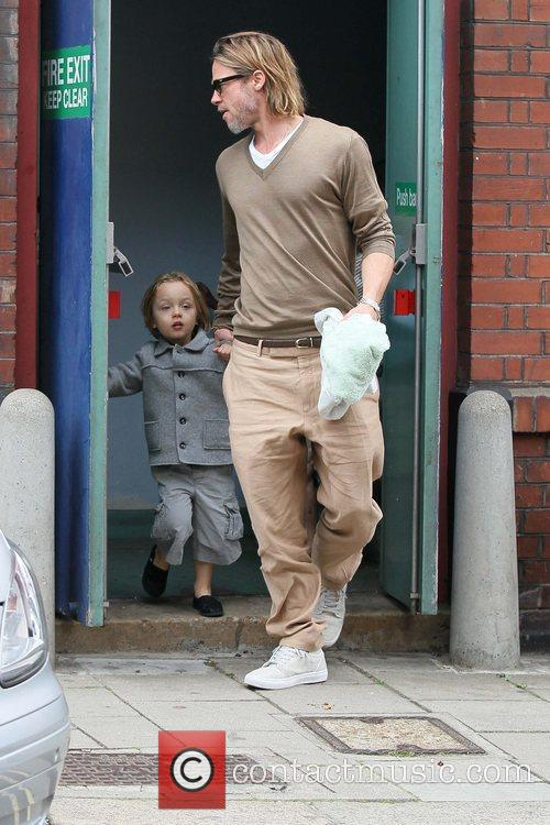 Brad Pitt and daughter Shiloh  leaving the...