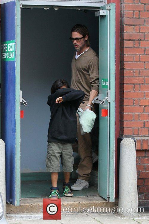 Brad Pitt with son Pax Thien Jolie-Pitt...
