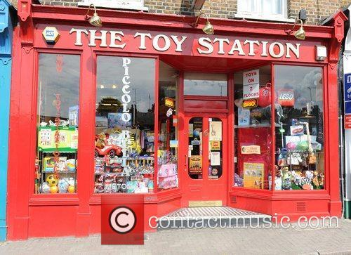 Angelina Jolie visited the Toy Station in Richmond,...