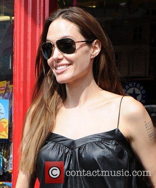 Angelina Jolie leaving the Toy Station Richmond, Surrey