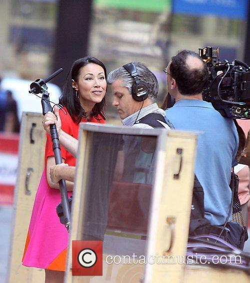 Ann Curry being interviewed by Extra on her...