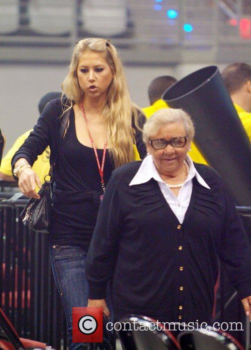 Anna Kournikova and her grandmother arrive to see...