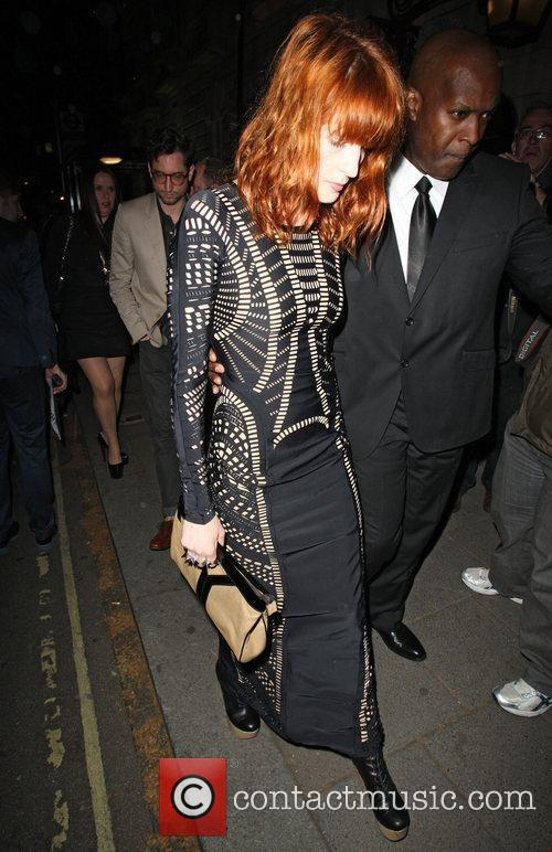 Florence Welch  celebrities attending a Lady GaGa...