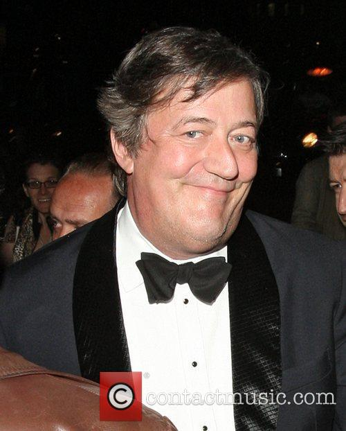 Stephen Fry  celebrities attending a Lady GaGa...