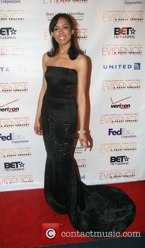 Brie Bythewood wearing Zang Toi  7th Annual...