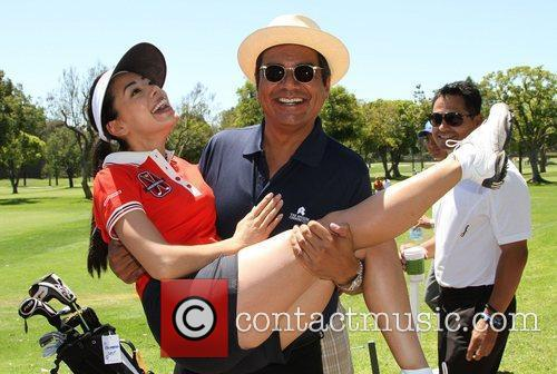 Aimee Garcia and George Lopez 8