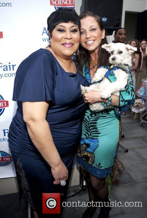 Martha Wash and Wendy Diamond with her dog...