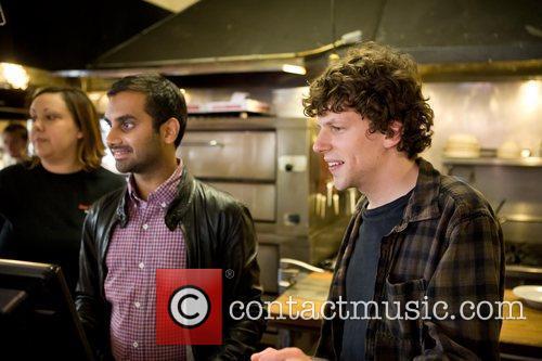 Jesse Eisenberg and Aziz Ansari 7