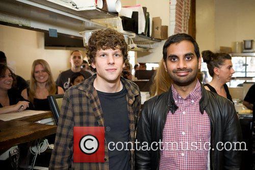 Jesse Eisenberg and Aziz Ansari 6