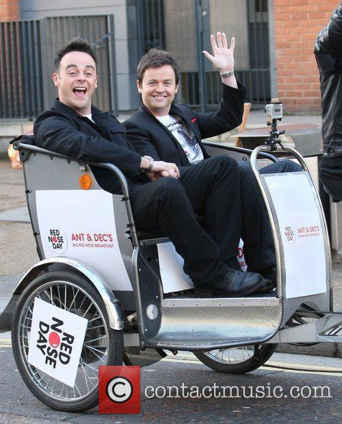 Ant and Dec at Ant and Dec's Big Red Nose Broadcast in London