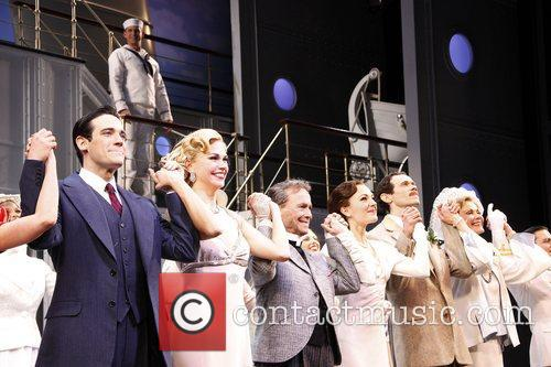 Opening night of the Broadway musical production of...