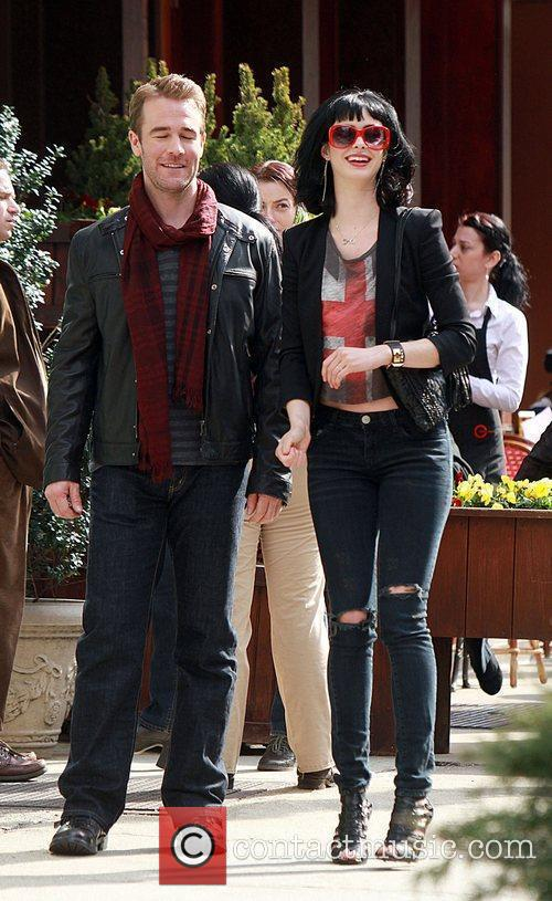 James Van Der Beek and Krysten Ritter shooting...