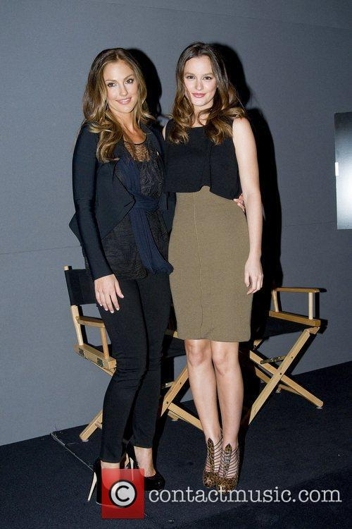 Leighton Meester and Minka Kelly at the Apple...