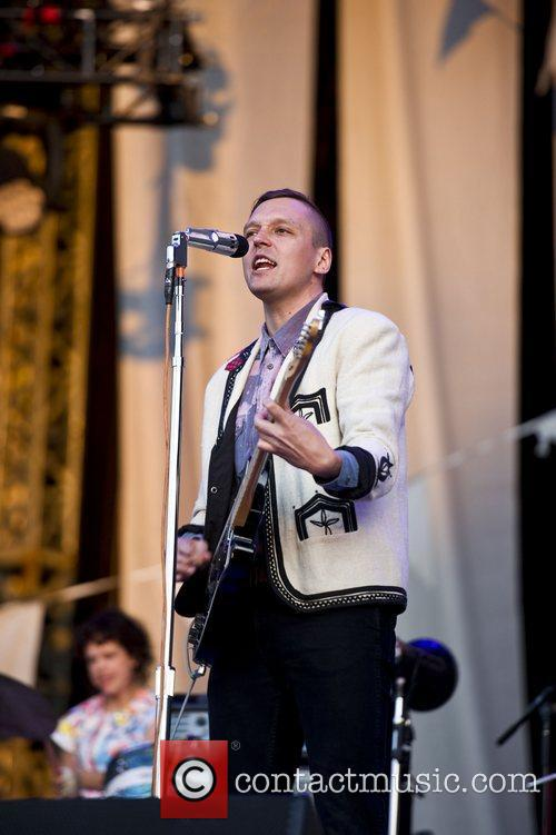 Arcade Fire performing live at Hyde Park in...