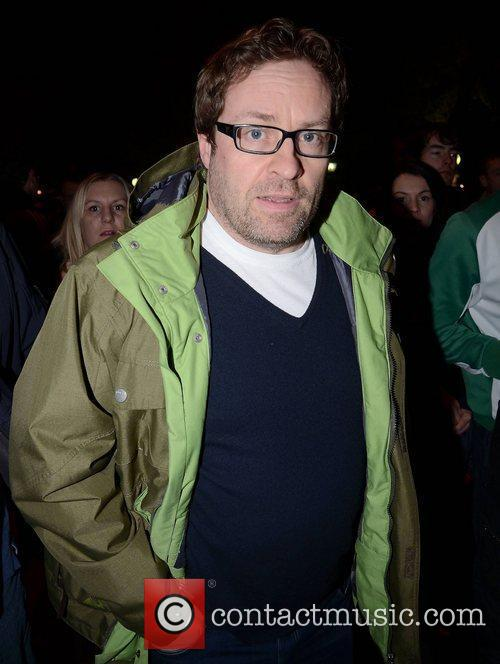 Ardal O'Hanlon arrives at the Aviva Stadium for...