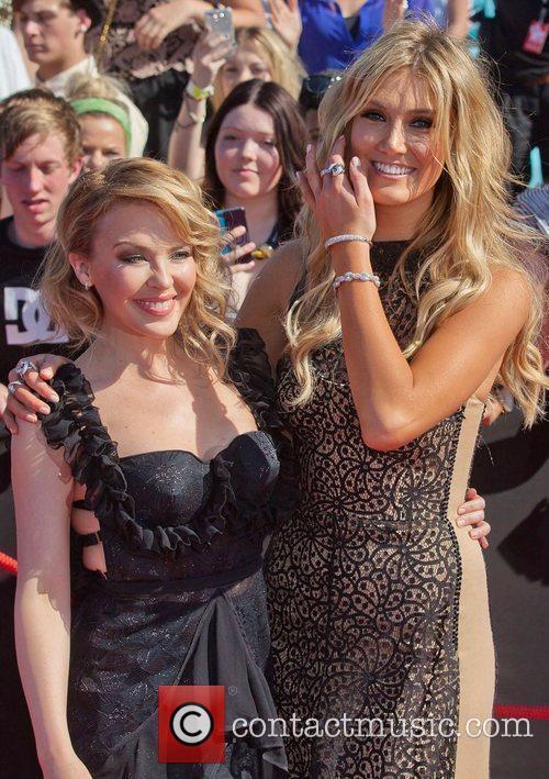 Kylie Minogue and Delta Goodrem The 2011 ARIA...