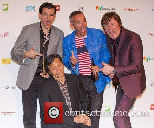 The Wiggles The 2011 ARIA awards at Allphones...
