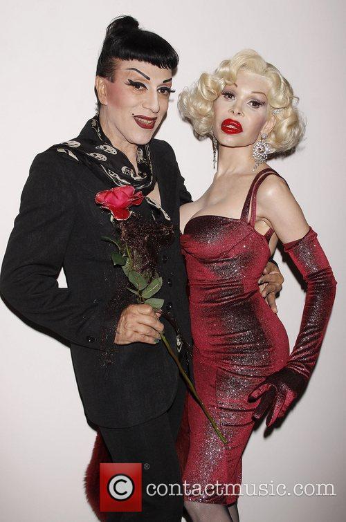 Joey Arias and Amanda Lepore Opening night of...