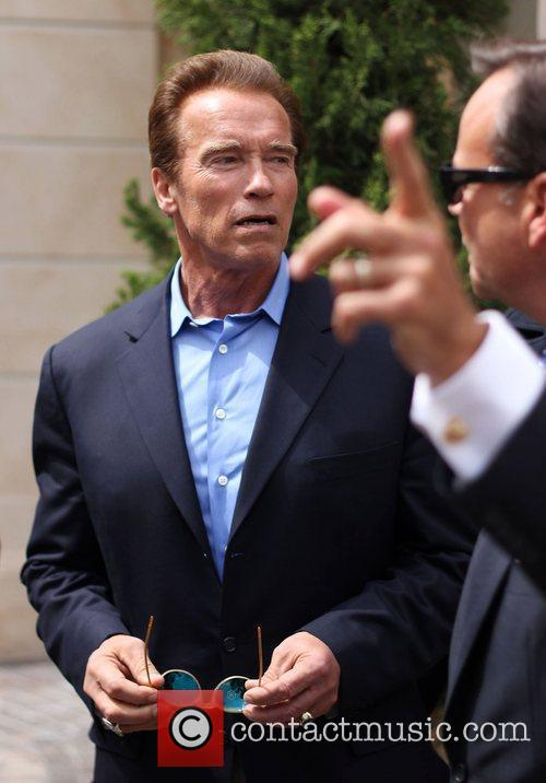 Arnold Schwarzenegger out and about in The Grove