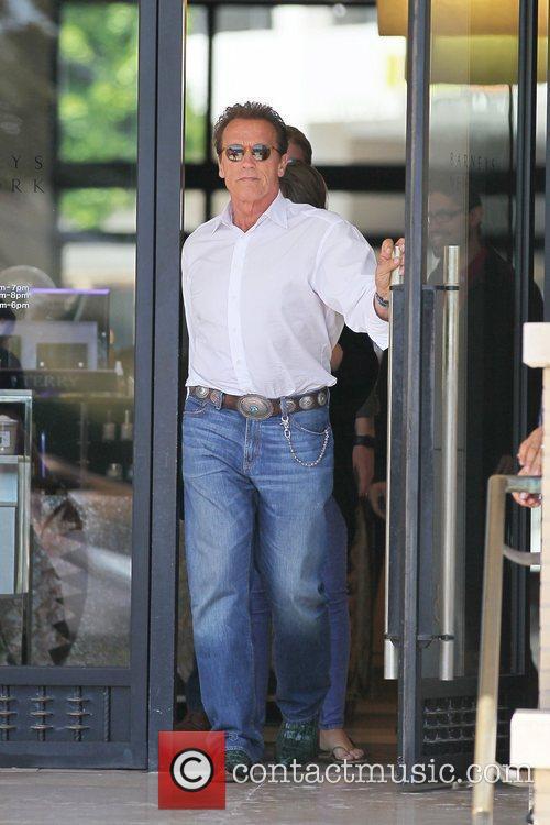 Arnold Schwarzenegger and his daughter Katherine Schwarzenegger...