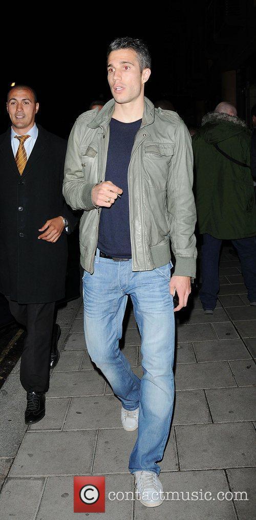 Robin van Persie,  leaving the Arsenal football...