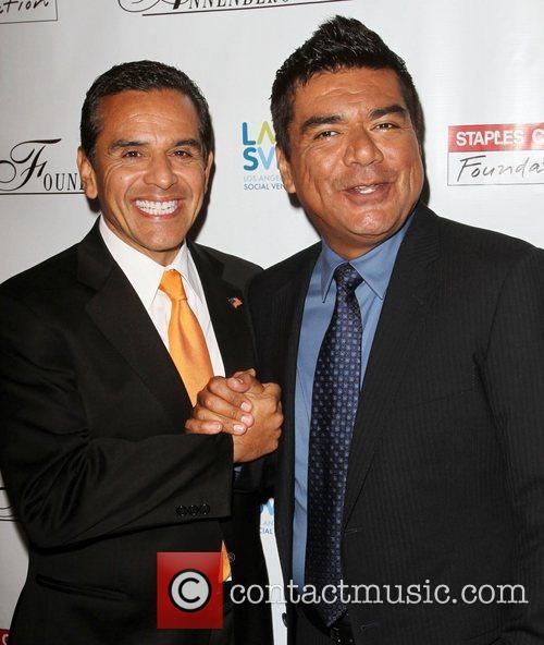 Antonio Villaraigosa and George Lopez 5