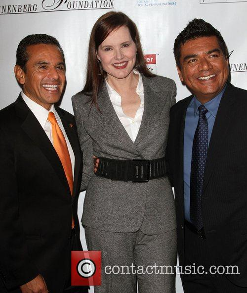 Antonio Villaraigosa, Geena Davis and George Lopez 6
