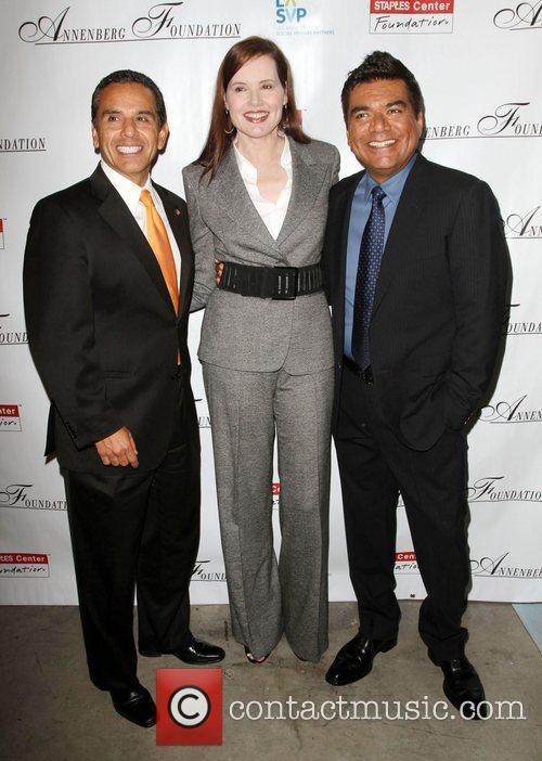 Antonio Villaraigosa, Geena Davis and George Lopez 2