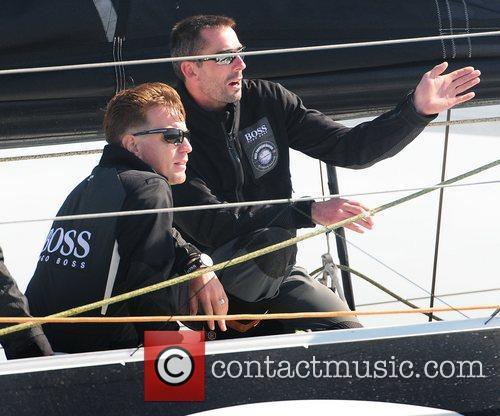 Sailing at the Artemis Challenge at Cowes Week