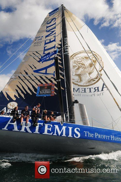 Sailing at the Artemis Challenge at Cowes Week