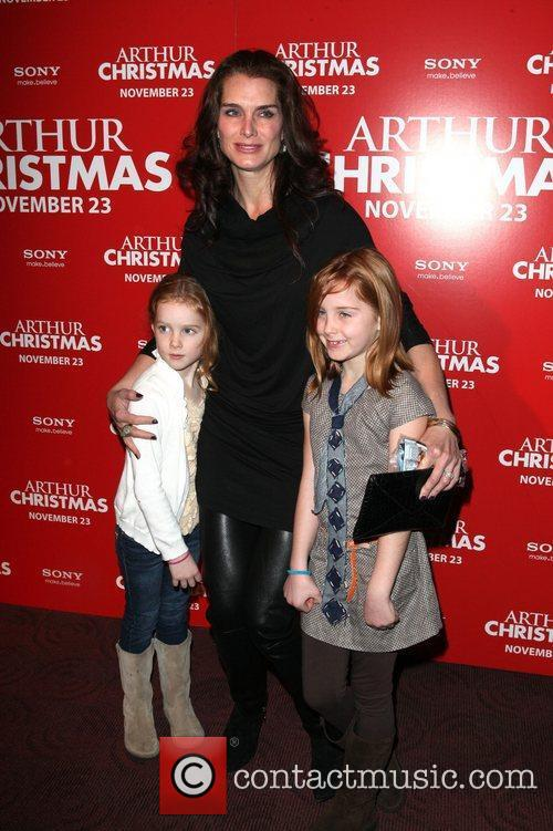Brooke Shields and daughters Rowan and Grier Arthur...