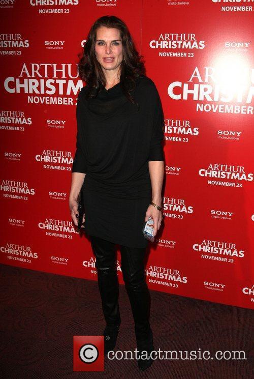 Brooke Shields Arthur Christmas MTA Shuttle unveiling at...