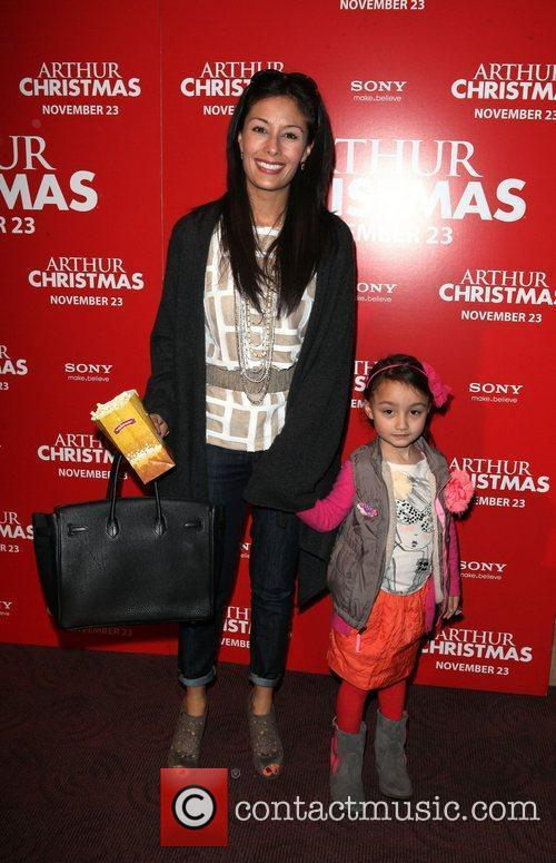 Liz Cho and daughter Lulu Arthur Christmas MTA...