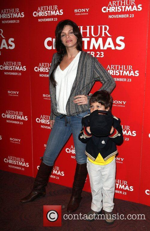 Vanessa Ferlito, and her son Vince Arthur Christmas...