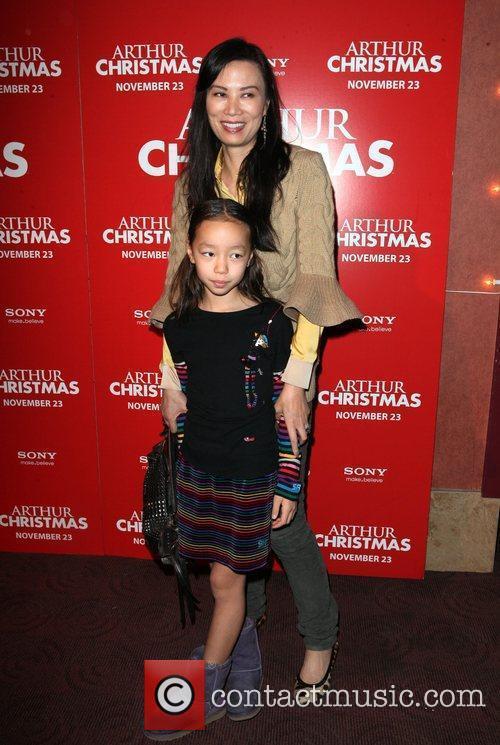Wendi Murdoch and daughter Chloe Murdoch Arthur Christmas...