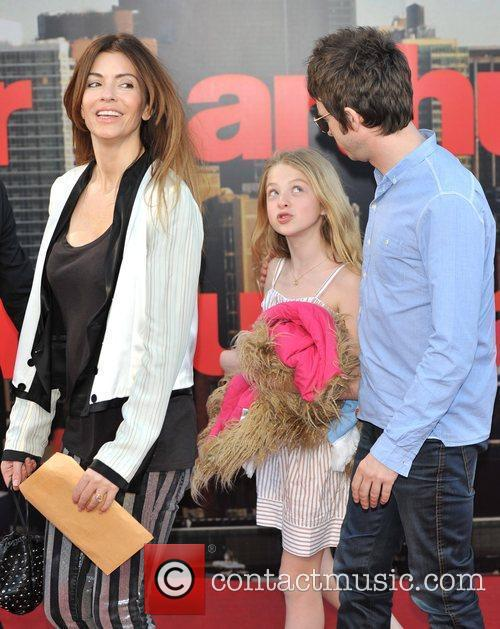 Sarah McDonald, Noel Gallagher and Anais Gallagher Arthur...