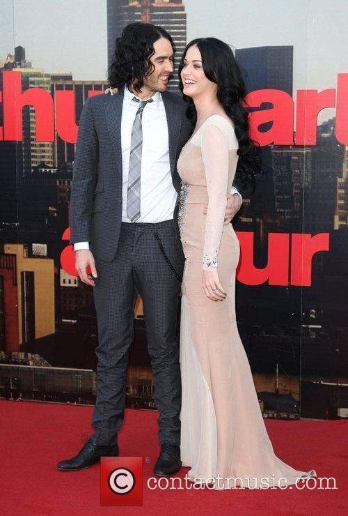 Russell Brand and Katy Perry UK premiere of...