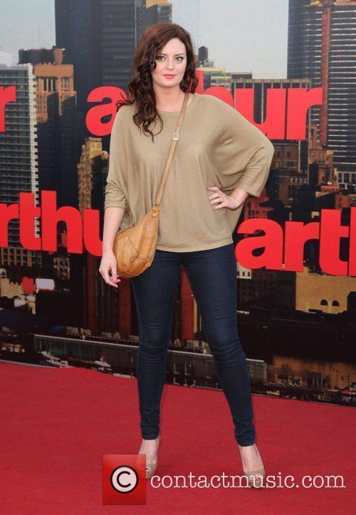 Morgana Robinson UK film premiere of 'Arthur' held...