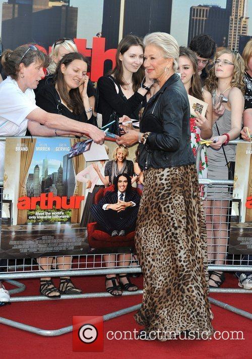 Dame Helen Mirren Arthur - UK film premiere...