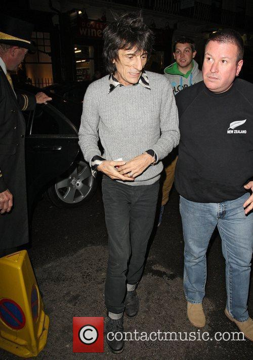 Ronnie Wood,  at the launch of Flea...