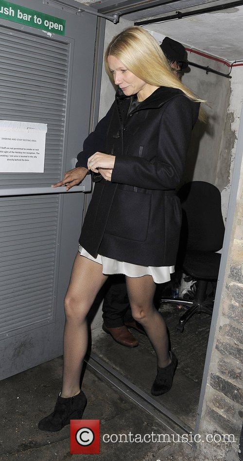 Gwyneth Paltrow leaving via the back door at...
