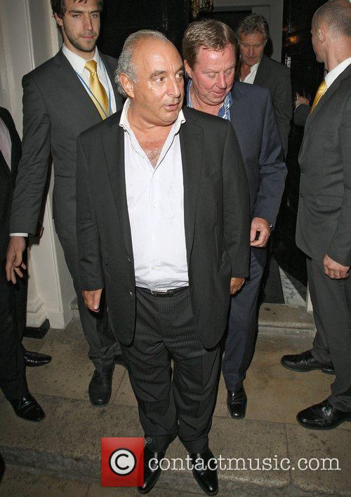 Sir Philip Green and Tottenham Hotspur Manager Harry...