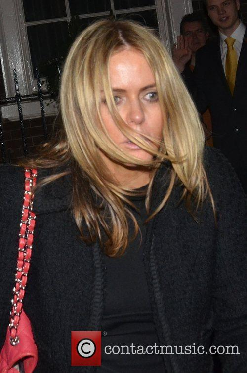 Patsy Kensit leaving the The Arts Club Mayfair...
