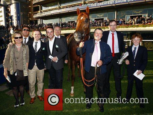 Ant, Dec and family with there horse Primeval,...