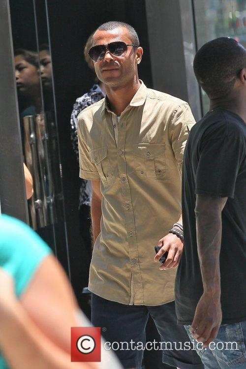 Ashley Cole leaving The Cheesecake Factory in Beverly...
